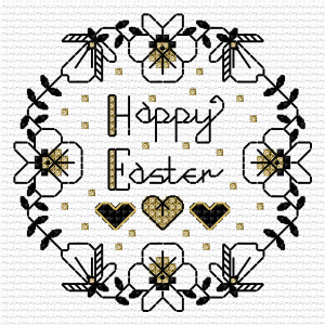 Easter Card cross stitch design