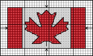 Canadian flag chart