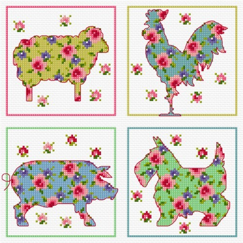 Cross stitch card patterns