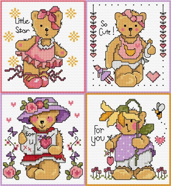 Girl teddies