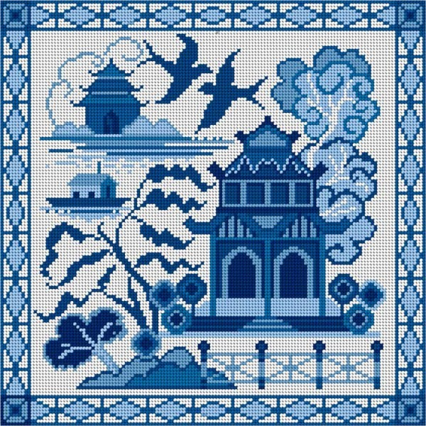 Willow pattern tapestry